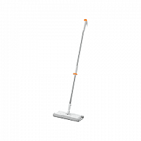 швабра jiezhi stylish stainless steel flat mop (white)